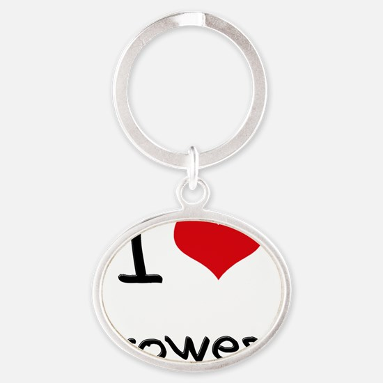 I Love Prowess Oval Keychain