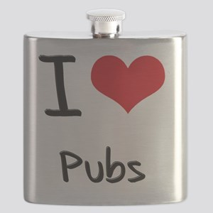 I Love Pubs Flask