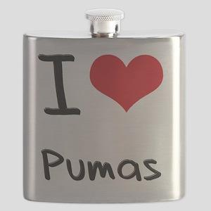 I Love Pumas Flask
