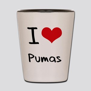 I Love Pumas Shot Glass