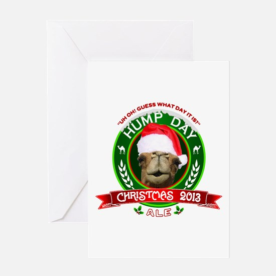 Hump Day Camel Christmas Ale Label Greeting Cards