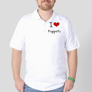 I Love Puppets Golf Shirt