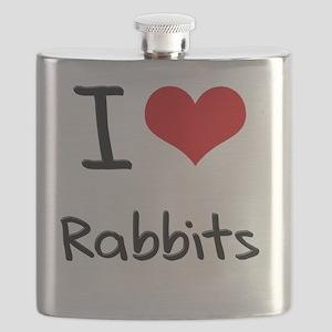 I Love Rabbits Flask