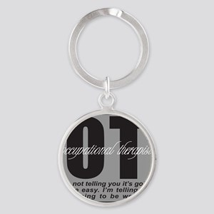 OCCUPATIONAL THERAPIST T-SHIRTS AND Round Keychain