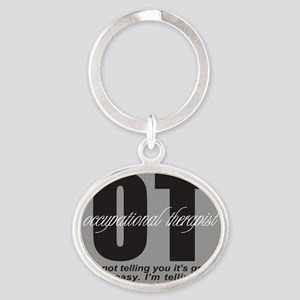 OCCUPATIONAL THERAPIST T-SHIRTS AND  Oval Keychain