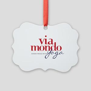 Via Mondo Yoga Picture Ornament