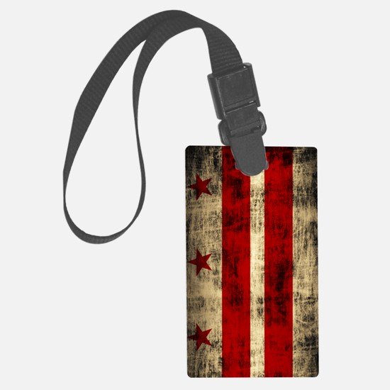 Washington DC Flag Grunge Luggage Tag