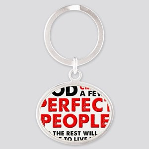 Perfectly Left-Handed Left Hand Funn Oval Keychain