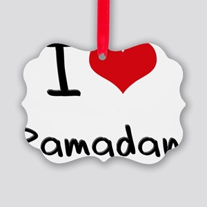 I Love Ramadan Picture Ornament