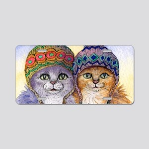 The knitwear cat sisters Aluminum License Plate