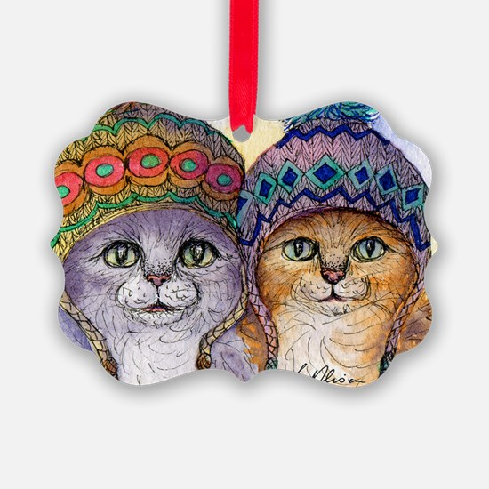 The knitwear cat sisters Ornament