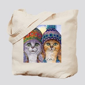 The knitwear cat sisters Tote Bag