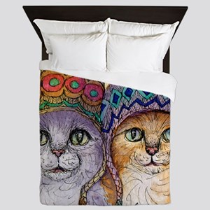 The knitwear cat sisters Queen Duvet