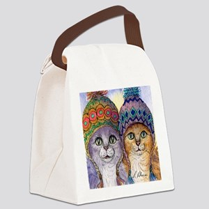 The knitwear cat sisters Canvas Lunch Bag