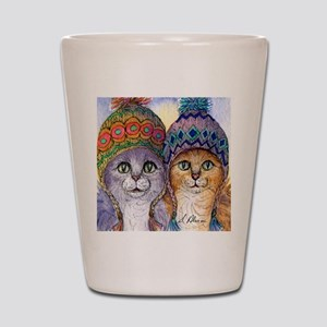 The knitwear cat sisters Shot Glass
