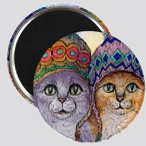 The knitwear cat sisters Magnet