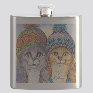 The knitwear cat sisters Flask