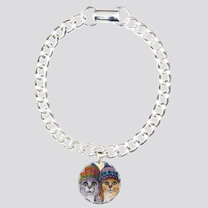The knitwear cat sisters Charm Bracelet, One Charm
