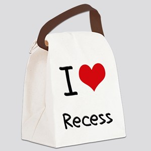 I Love Recess Canvas Lunch Bag