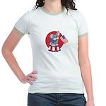 Patriotic Puppy Jr. Ringer T-Shirt
