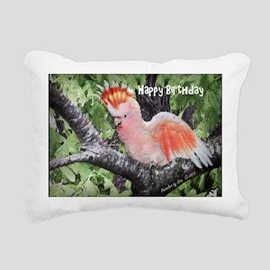 Major Mitchells Cockatoo Rectangular Canvas Pillow