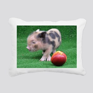 Peach as a Pig Rectangular Canvas Pillow