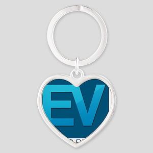 EV Logo Large Heart Keychain