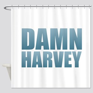 Damn Harvey Shower Curtain