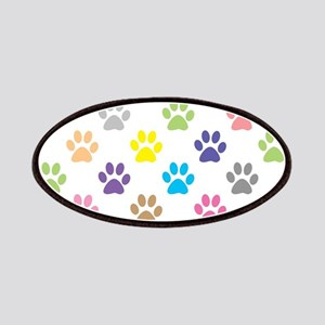 Colorful puppy paw print pattern Patch