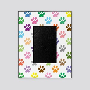 Colorful puppy paw print pattern Picture Frame