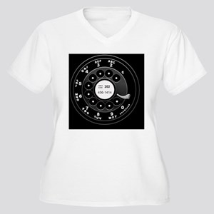 rotary-phone-dial Women's Plus Size V-Neck T-Shirt