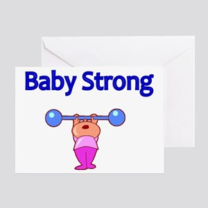 Baby weight lifting greeting cards cafepress baby strong greeting card m4hsunfo