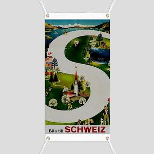 Vintage Switzerland Travel Ad Banner