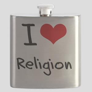 I Love Religion Flask