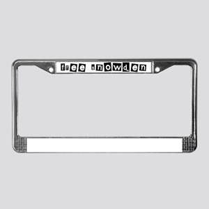 Free Snowden 1 License Plate Frame