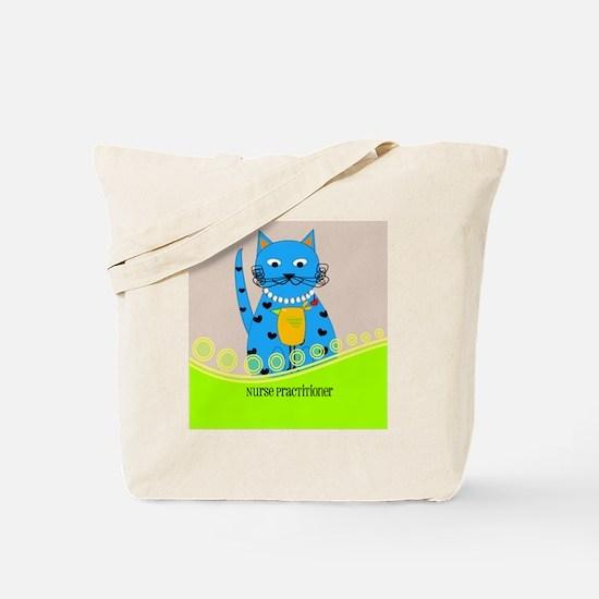 Nurse Practitioner cat Tote Bag