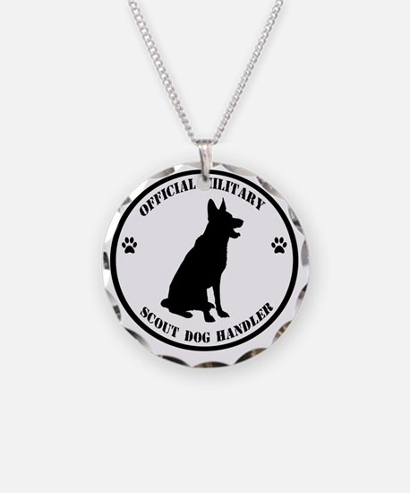 Official Military Scout Dog  Necklace