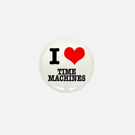 I Heart (Love) Time Machines Mini Button