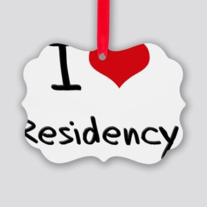 I Love Residency Picture Ornament
