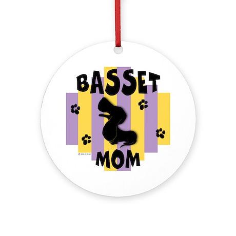Basset Hound Mom Ornament (Round)