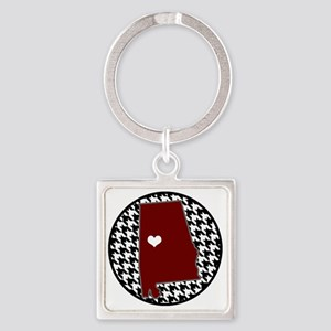 Roll Tide in my Heart Square Keychain