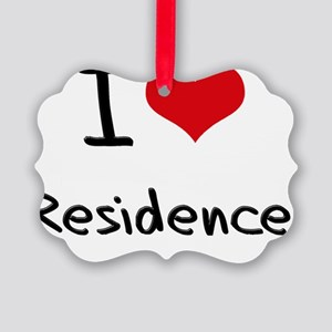 I Love Residence Picture Ornament