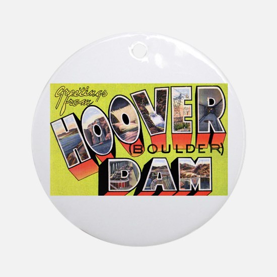 Hoover Boulder Dam Ornament (Round)