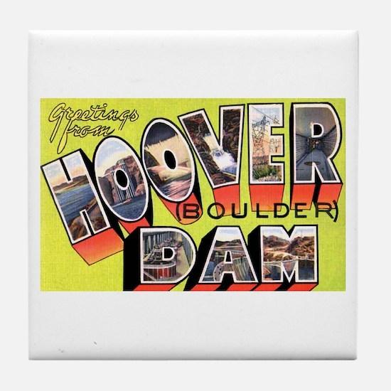 Hoover Boulder Dam Tile Coaster