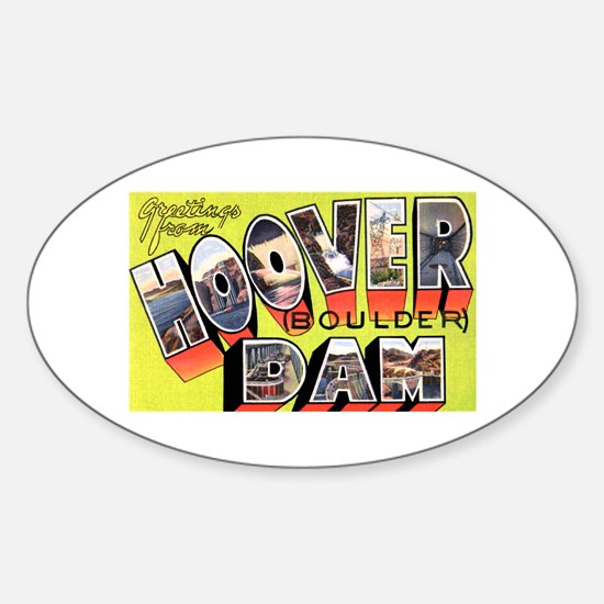 Hoover Boulder Dam Oval Bumper Stickers