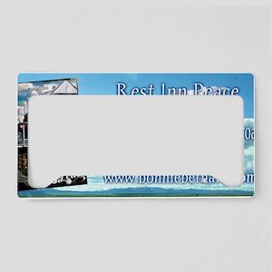 Rest Inn Peace Skyscaper License Plate Holder