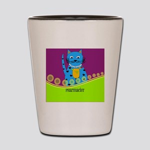 pharmacist cat 3 Shot Glass