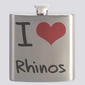 I Love Rhinos Flask