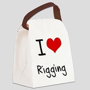 I Love Rigging Canvas Lunch Bag