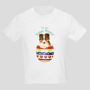 Easter Sheltie Kids Light T-Shirt